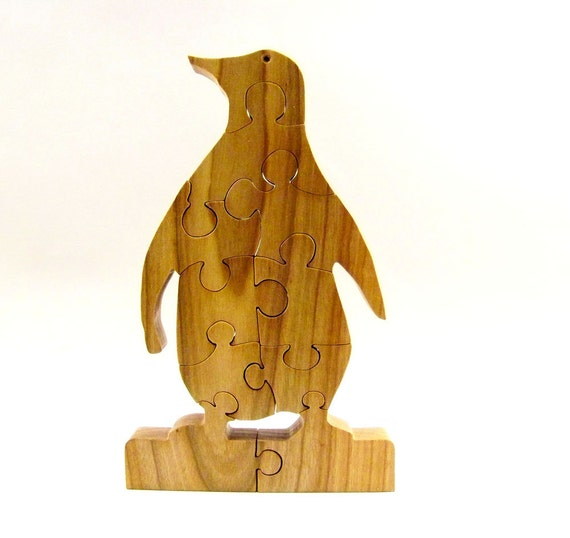 Penguin Wood Puzzle