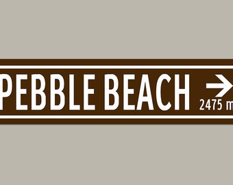 Custom Pebble Beach Golf Course Road Sign