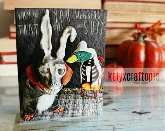 donnie darko halloween dachshund card