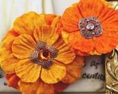 Prima Embellishment Flowers---Medicci Flowers----CITRUS---2 piece set