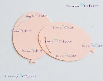 """54 Balloon Die Cut Size 3"""" -Paper Balloon Tags -Cardstock Balloon Labels -Cardstock die cuts -Paper tags -Balloon Labels -Paper Balloon"""