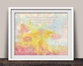 Maria Montessori Quote Watercolor Fine Art Print Gift for Teacher, Educator, Parent, Homeschooler, Friend