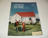 Vintage The American Home Magazine March 1950 - Retro Art Scrapbooking Home Furnishing Paper Ephemera