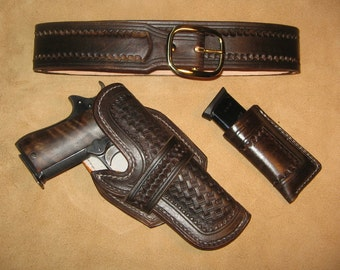Custom Made to Order - 1911 holster and belt set - 10/12 week delivery