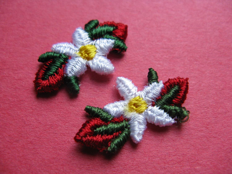 daisy flower patch rosebud daisy appliqué lingerie trim
