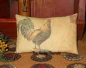 Rooster Printed Accent pillow bowl filler