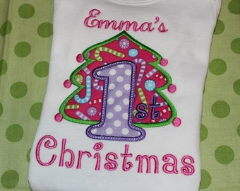My first Christmas for baby- for boy or girl- you pick fabric