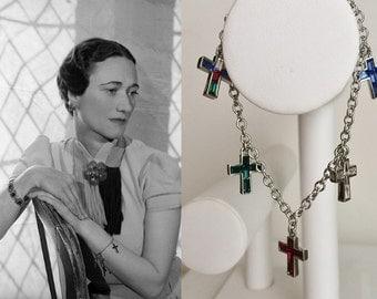 Duchess of Windsor Silver Cross Bracelet