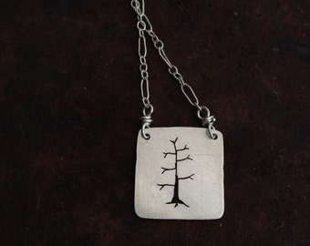 mini tree necklace