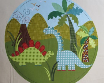 "Michael Miller Fabric DINO Panel Dinosaur Fabric, sold by the 23.5"" panel."