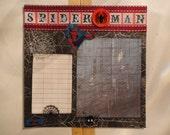 Superheroes - Spiderman #3 8 x 8 scrapbook page