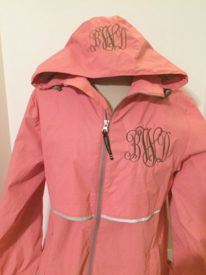 monogrammed rain jacket new englander rain jacket greek