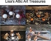 Primitive Field Mouse Mice Doll Pattern - Christmas Mice, Fall Mice, Easter Mice, Winter Mice, Folk Art Mice Mouse Doll E Pattern