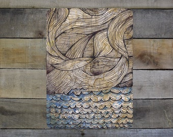 "Angry Waves - 5""-7"" Giclée Print"