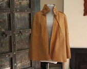 vintage 90's tan leather boho cape