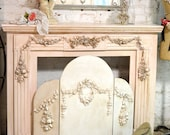 Painted Cottage Shabby Chic Fireplace Screen