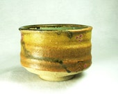 High Fire Chawa Tea Bowl with Ohio Yellow Glaze