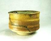 High Fire Chawa Tea Bowl with Ohio Yellow Glaze
