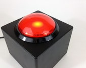 USB Button - Big Red Button - DIY Wedding Photobooth or Interactive Installation - LED Light