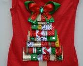 Dog Shirt, Holiday Ribbon Christmas Tree