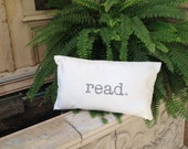 Word Pillow, sayings, quotes, designer pillow, inspirational, read, books, book lovers, read pillow