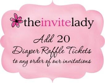 Diaper Raffle Ticket Add On, Set of 20