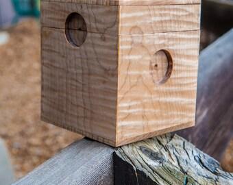 Rippled Maple Cube box