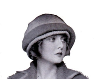 Downton Abbey 1920s Knit Hat Pattern Instant Download The Huntley Hat