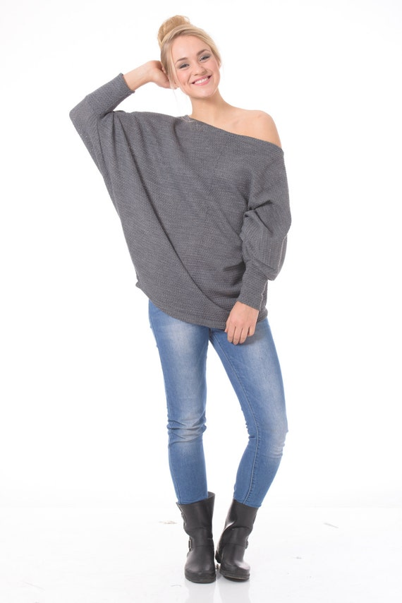 Plus size sweater Off the shoulder sweater Plus size women