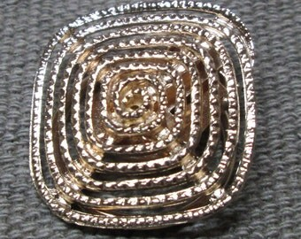 Vintage Western Germany Dress or Scarf Clip, Gold Tone