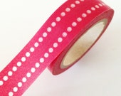 RED washi Tape Red Dot Dash Washi Tape - Red Dot Paper Tape Christmas washi tape Holiday Gift Wrapping