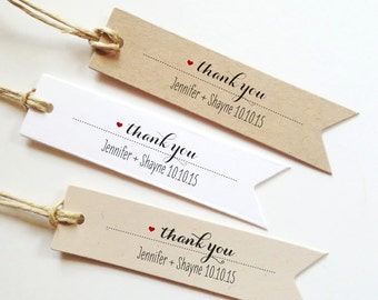 25 Wedding Thank You Tags Wedding Gift Tags Bridal Shower Favor Tag Custom Favor Tag Wedding Favor Tags Thank you wedding tags