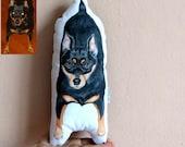 Custom Dog Portrait Pillow, Personalized gift for pet lovers, dog portrait pillow, cat pillow