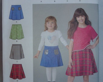 Pattern for skirts, Pattern Sizes for 3, 4, 5, and 6,