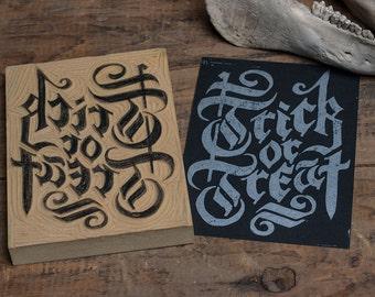 Trick or Treat - Block Print