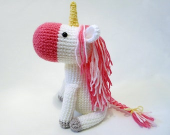 Crochet PATTERN PDF - Amigurumi Unicorn - amigurumi pattern, cute crochet unicorn pattern, crochet animal plush, children's toy, softie