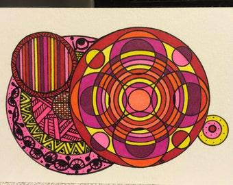 Studio 1500 3 1/2 x 2 1/2 Illustration/Doodle Scripture Tile /  Boookmark