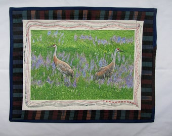 MADE TO ORDER Whooping Crane or Sandhill Crane Wall Hanging