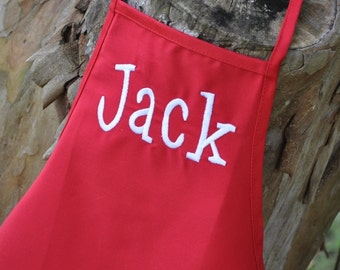 PERSONALIZED CHILD'S APRON For Ages 2-6 with Free Monogramming