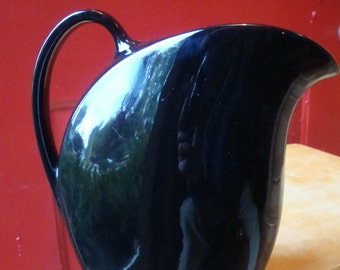 Vintage Camark ? Black Pitcher Art Deco