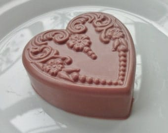 Chocolate Victorian Heart Soap