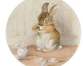 Envelope Sealers -Tea Bunny