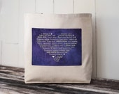 LOVE Languages Tote Bag - Canvas Bag - Carryall Tote - Enchanted Wisteria - Enchanted Collection