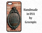 Haunted Mansion sign, Disney World plaque, phone case, iPhone 4 4s 5 5s 5C 6 6S Galaxy S5 S6, brick wall, Liberty Square, cell cover, unique