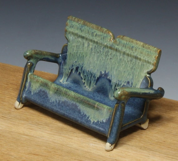 Handmade pottery business card holder with by for Ceramic business card holder