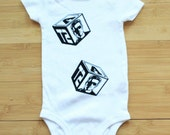 Terminator 2 Arnold Baby Block Bodysuit.  Awesome. Color/Sleeve Options