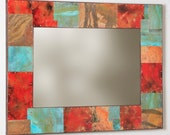 35 x 27 Copper and Metal  Mirror