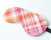 Plaid Sleep Mask / Eye Mask - Mother's Day Gift