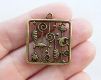 4 The Sea pendants antique bronze tone BC125