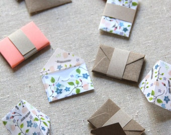 Tiny Love Notes Envelopes and Notes Variety Pack - August Garden
